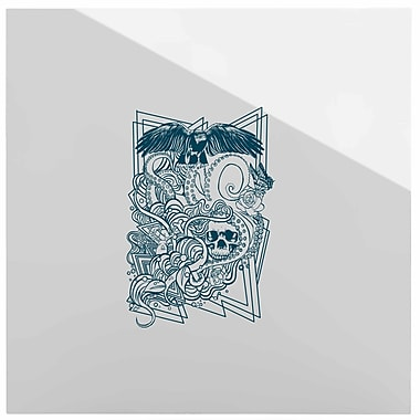East Urban Home Illustration 'Tidal Wave' Graphic Art Print on Metal; 10'' H x 10'' W x 1'' D