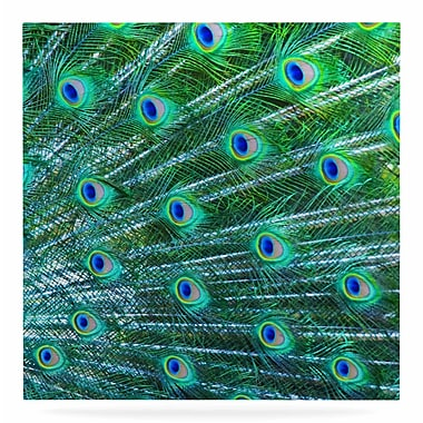 East Urban Home 'Peacock Feathers' Photographic Print on Metal; 8'' H x 8'' W x 1'' D