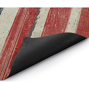 August Grove Haworth Rustic American Flag Doormat