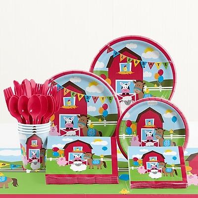Creative Converting 81 Piece Farmhouse Fun Birthday Paper/Plastic Tableware Set WYF078281158252