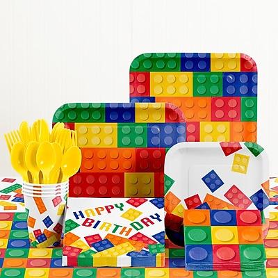 Creative Converting 81 Piece Block Party Birthday Paper/Plastic Tableware Set WYF078281158257