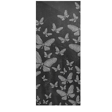 East Urban Home Chalk 'Butterflies III' Graphic Art Print on Metal; 21'' H x 9'' W x 1'' D