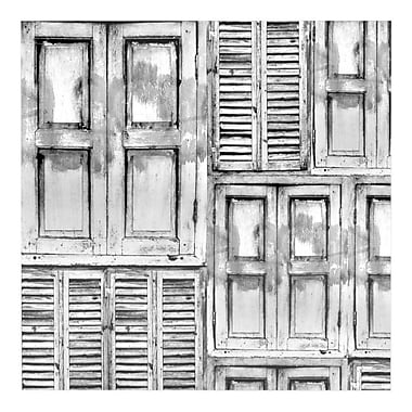 East Urban Home 'Close the Door' Graphic Art Print on Metal; 8'' H x 8'' W x 1'' D