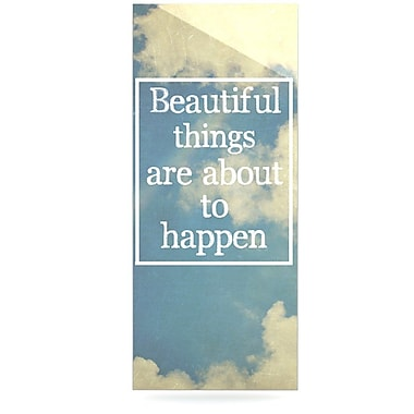 East Urban Home Sky Clouds 'Beautiful Things' Textual Art on Metal; 20'' H x 16'' W x 1'' D