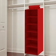 Symple Stuff 6 Shelf Hanging Organizer; Red