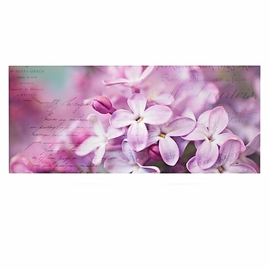 East Urban Home 'French Lilacs' Graphic Art Print on Metal; 9'' H x 21'' W x 1'' D