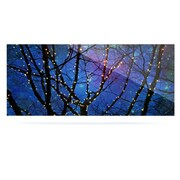East Urban Home Christmas 'Holiday Lights' Graphic Art Print on Metal; 16'' H x 20'' W x 1'' D