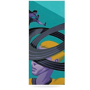 East Urban Home 'Runner's High' Graphic Art Print on Metal; 20'' H x 16'' W x 1'' D