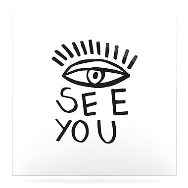 East Urban Home 'Eye See You' Graphic Art Print on Metal; 10'' H x 10'' W x 1'' D