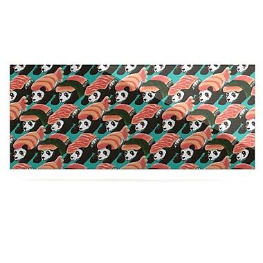 East Urban Home 'Sushi Panda' Graphic Art Print on Metal; 16'' H x 20'' W x 1'' D