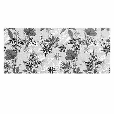 East Urban Home 'Engraving Flowers' Graphic Art Print on Metal; 16'' H x 20'' W x 1'' D