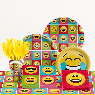 Creative Converting 81 Piece Show Your Emotions Birthday Paper/Plastic Tableware Set WYF078281158255
