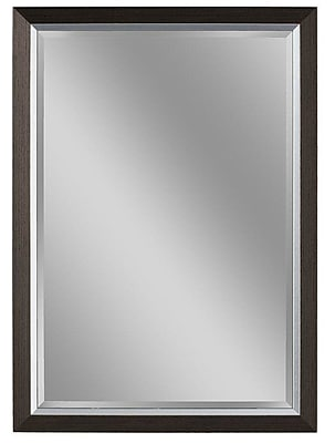 Darby Home Co Sloped Styrene Frame Bathroom/Vanity Wall Mirror; 40'' H x 28'' W x 1'' D