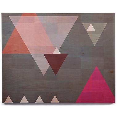 East Urban Home 'Geo II' Graphic Art Print on Wood; 11'' H x 14'' W x 1'' D