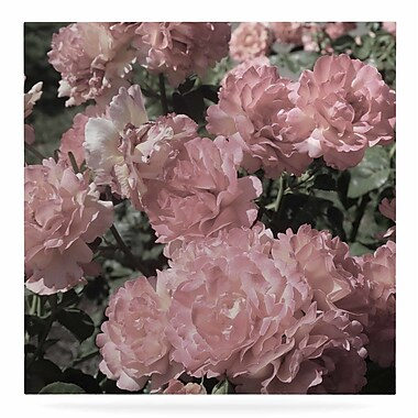 East Urban Home 'Blush Pink Flowers' Photographic Print on Metal; 10'' H x 10'' W x 1'' D