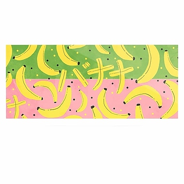 East Urban Home 'Banana II' Graphic Art Print on Metal; 9'' H x 21'' W x 1'' D
