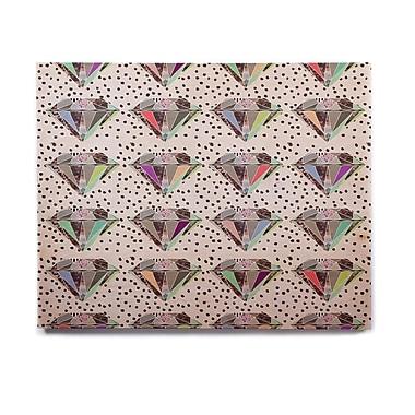 East Urban Home 'Polka Dot Diamonds' Graphic Art Print on Wood; 11'' H x 14'' W x 1'' D