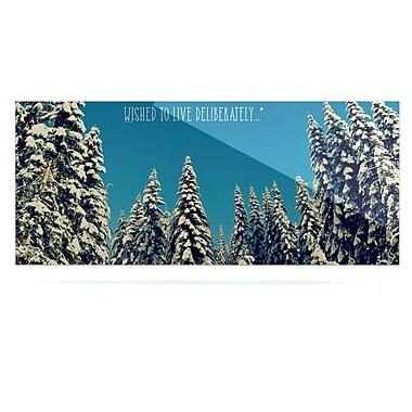 East Urban Home 'I Went To the Woods' Graphic Art Print on Metal; 16'' H x 20'' W x 1'' D