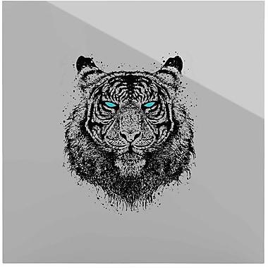 East Urban Home Tiger Gaze' Graphic Art Print on Metal; 10'' H x 10'' W x 1'' D