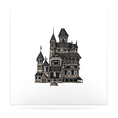 East Urban Home Haunted 'House of Usher' Graphic Art Print on Metal; 8'' H x 8'' W x 1'' D