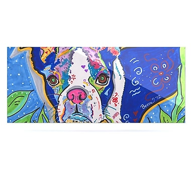 East Urban Home Pug Terrier 'Addy Mae' Graphic Art Print on Metal; 16'' H x 20'' W x 1'' D