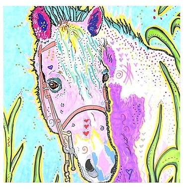 East Urban Home Horse 'Nemo' Graphic Art Print on Metal; 10'' H x 10'' W x 1'' D