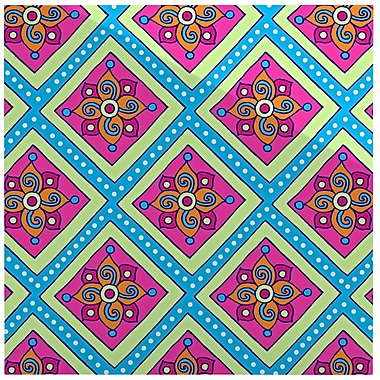 East Urban Home 'Colorful Diamonds' Graphic Art Print on Metal; 10'' H x 10'' W x 1'' D