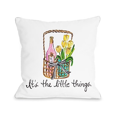 August Grove Weaver Its The Little Things Throw Pillow; 16'' H x 16'' W x 3'' D