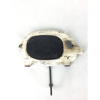 August Grove Resin Pig w/ Black Chalkboard
