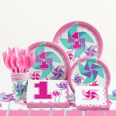 Creative Converting 81 Piece One Little Star Boy 1st Birthday Plastic/Paper Tableware Set WYF078281158243