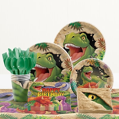 Creative Converting 81 Piece Dino Blast Birthday Paper/Plastic Tableware Set WYF078281158273