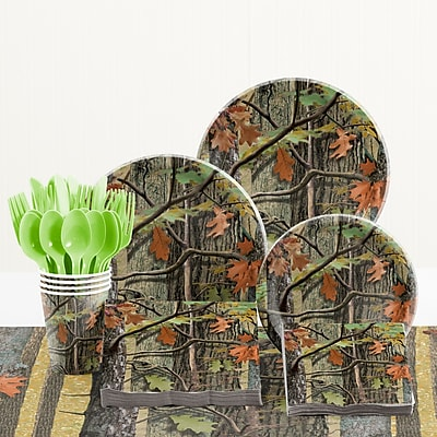 Creative Converting 81 Piece Hunting Camo Birthday Paper/Plastic Tableware Set WYF078281158275