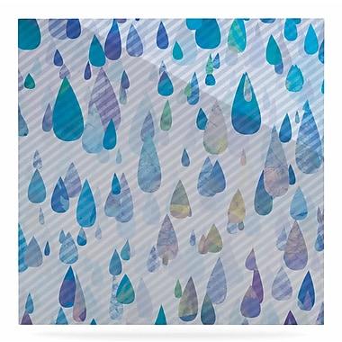 East Urban Home 'Rain Storm' Graphic Art Print on Metal; 10'' H x 10'' W x 1'' D