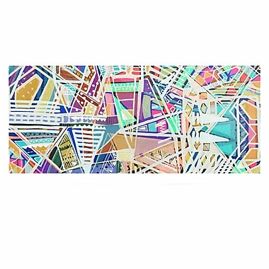 East Urban Home 'Abstract Geometric Playground' Graphic Art Print on Metal; 16'' H x 20'' W x 1'' D