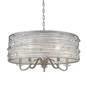 Willa Arlo Interiors Hermione 5-Light Drum Chandelier; Peruvian Silver
