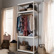 Rebrilliant 31.49''W Framed Metal Closet System; White
