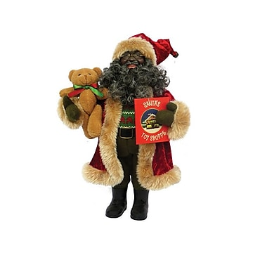 The Holiday Aisle African American Story Time Santa Figurine