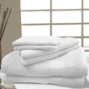 Maison Condelle W Home 6 Piece Bamboo Spa Towel Set; White