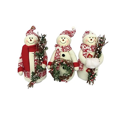 The Holiday Aisle 3 Piece Snowmen Cheer Stuffed Holiday Accent Set