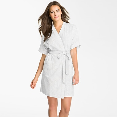 Maison Condelle Studio 707 Micro Fleece Bathrobe; White
