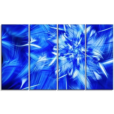 DesignArt 'Rotating Bright Blue Fireworks' Graphic Art Print Multi-Piece Image on Canvas