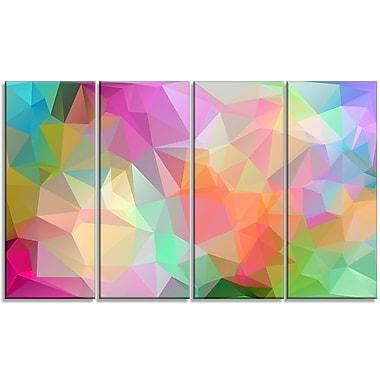 DesignArt 'Polygonal Mosaic' Graphic Art Print Multi-Piece Image on Canvas