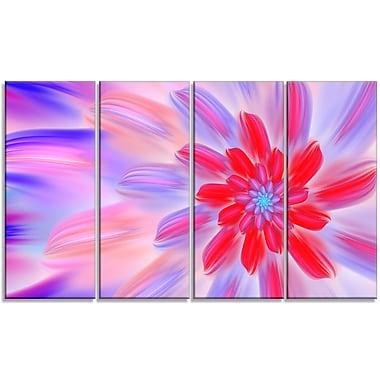 DesignArt 'Dance of Fractal Pink Petals' Graphic Art Print Multi-Piece Image on Canvas