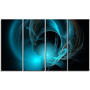 DesignArt 'Blue Fractal Galactic Nebula' Graphic Art Print Multi-Piece Image on Canvas