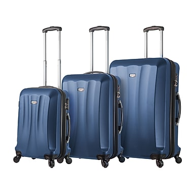 Mia Viaggi ITALY Siena Hardside Spinner Luggage Set, 3 Piece/Set, Blueberry (V1010-03PC-BLU)