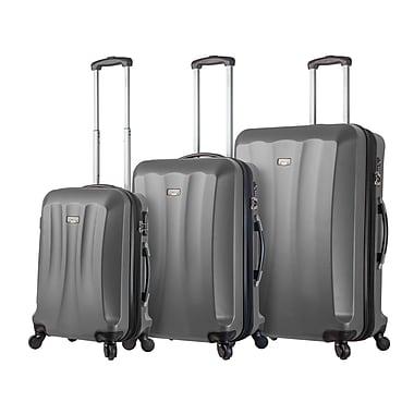 Hontus Mia Viaggi Italy – Ensemble de valises rigides à roulettes Siena, 3 pièces, argenté (V1010-03PC-SLV)