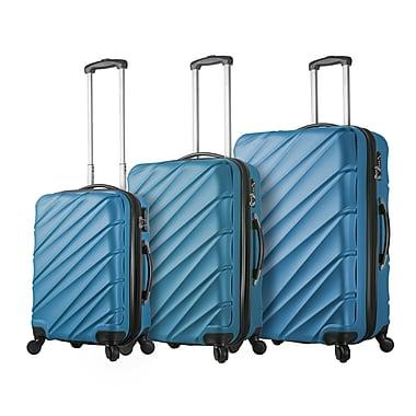 Hontus Mia Viaggi Italy – Ensemble de valises rigides à roulettes Lodi, 3 pièces, bleu (V1015-03PC-BLU)