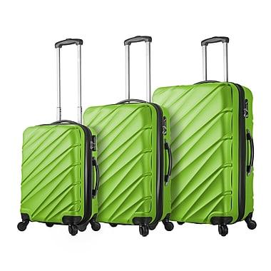 Mia Viaggi ITALY Lodi Hardside Spinner Luggage Set, 3 Piece/Set, Green (V1015-03PC-GRN)