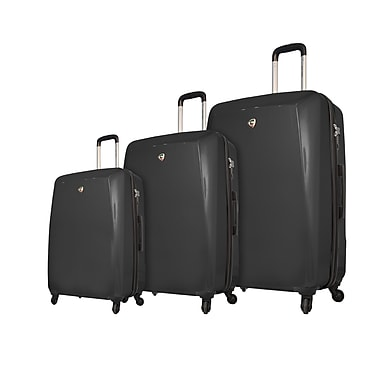 Mia Toro ITALY Fibre di Carbonio Moderno Hardside Spinner Luggage Set, 3 Piece/Set, Black (M1015-03PC-BLK)