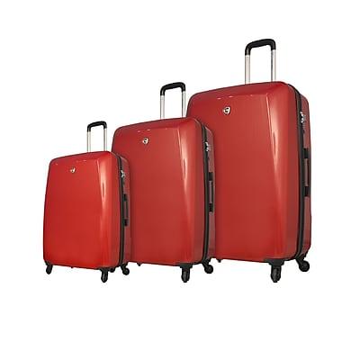 Mia Toro ITALY Fibre di Carbonio Moderno Hardside Spinner Luggage Set, 3 Piece/Set, Red (M1015-03PC-RED)
